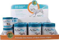ACTIVPHY JOINT SUPPORT SOFT CHEWS FOR DOGS DISPLAY