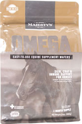 MAJESTY S OMEGA EQUINE SUPPLEMENT WAFERS