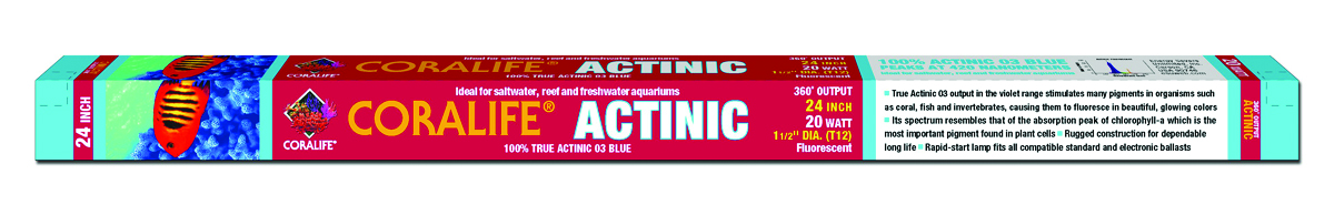 ACTINIC BLUE 03 FLUORESCENT LAMP 20 WATT