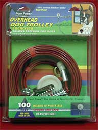 100 Ft Heavy Trolley Tie Out - Silver