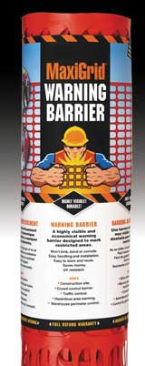 Maxigrid Warning Barrier 4' x 100'