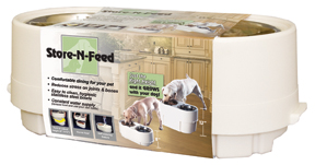 Adjustable Double Feed Bowl with Store-N-Feed