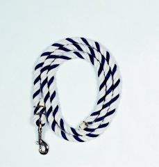 Cotton Lead Rope - Blue/White