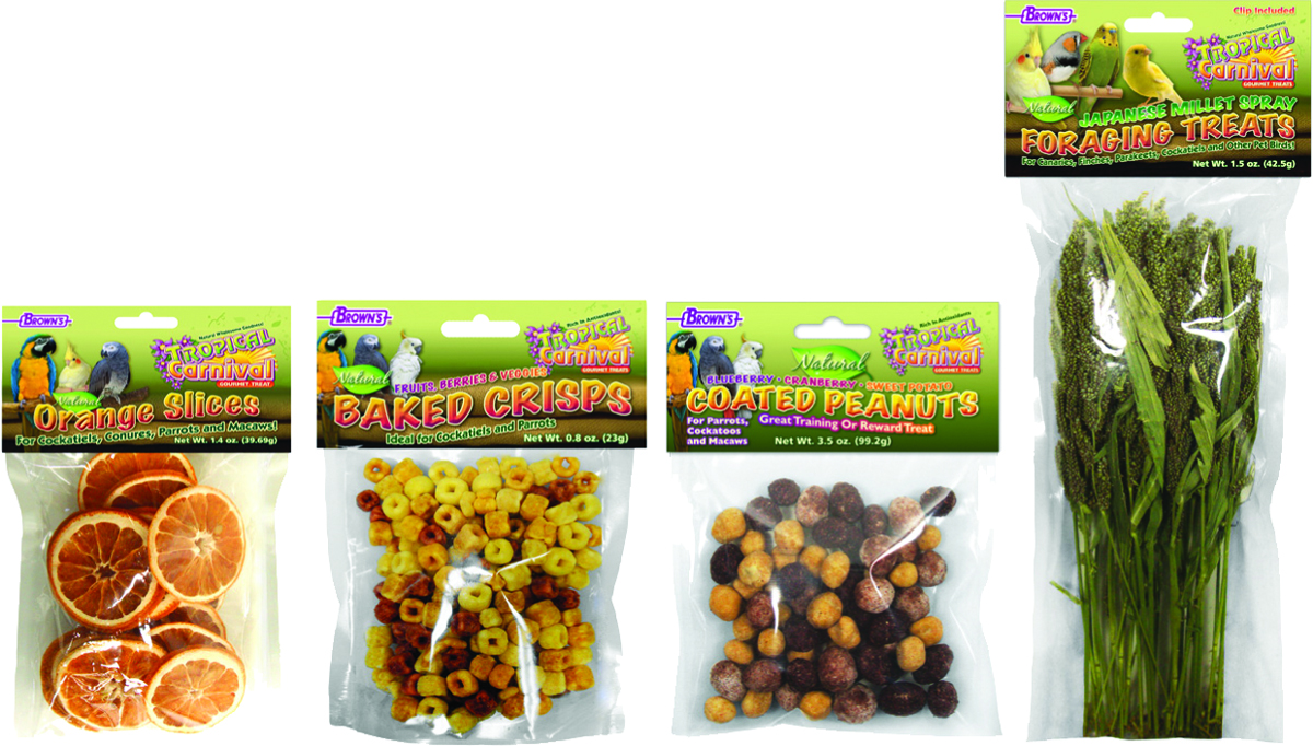TROPICAL CARNIVAL NATURAL CAGED BIRD TREAT ASSORT