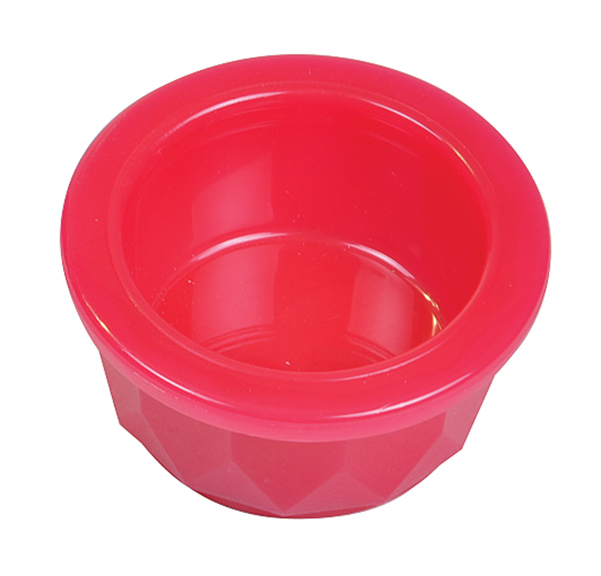 4 Oz Plastic Crock Style Dog Bowl - Translucent