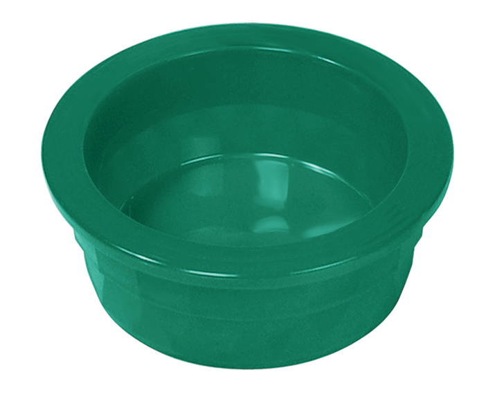 9.5 Oz Plastic Crock Style Dog Bowl - Translucent