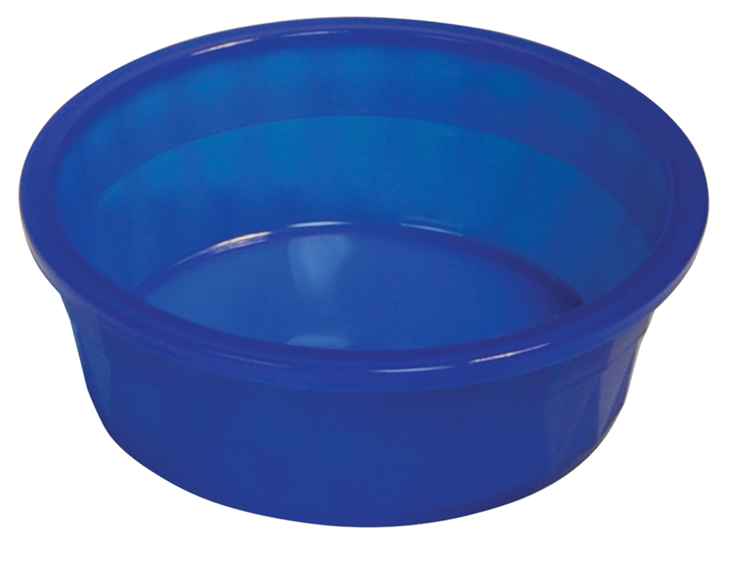 106 Oz Plastic Crock Style Dog Bowl - Translucent