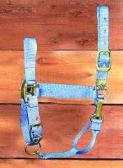 "1"" Adjustable Halter W/snap  - Berry - Large"