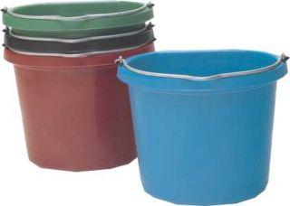 Econo Flat Back Bucket 20qt - Blue