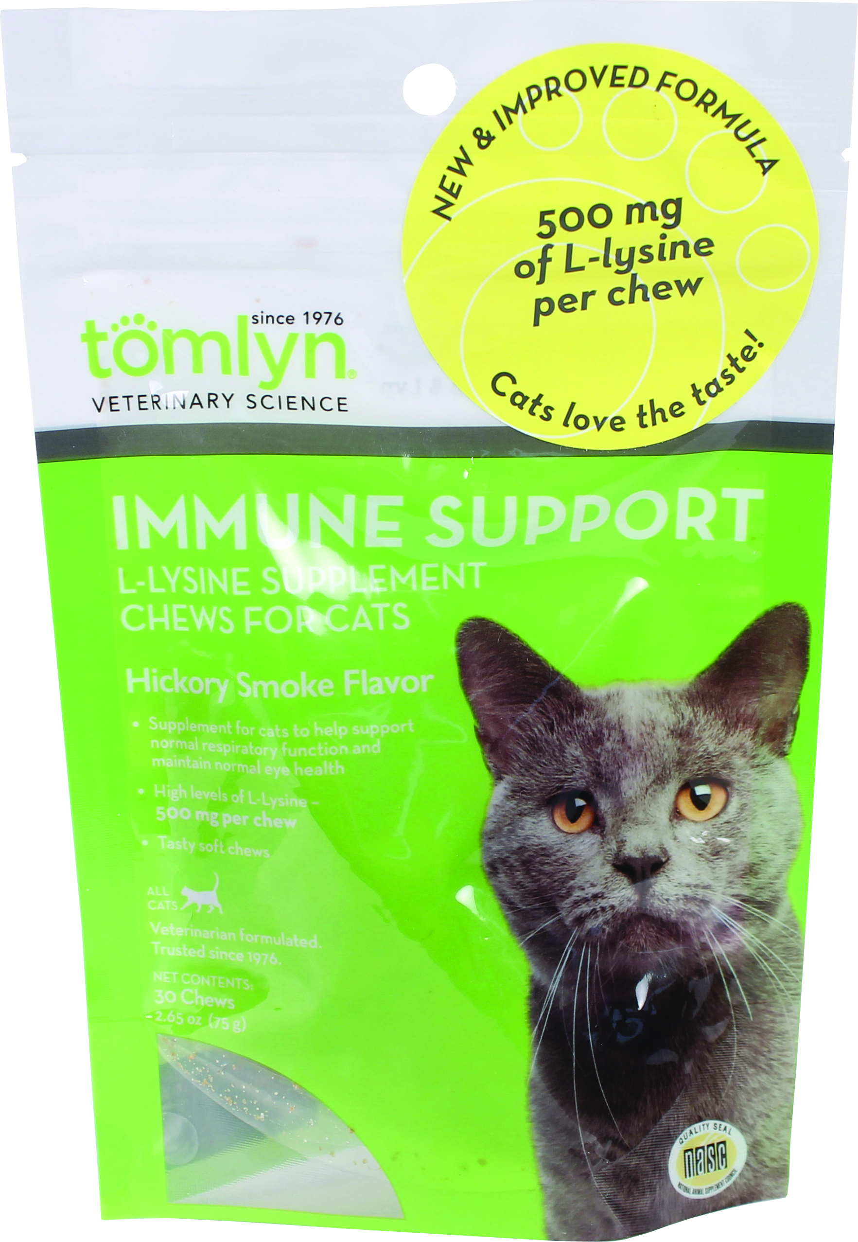 IMMUNE SUPPORT L-LYSINE SUPPLEMENT CHEWS FOR CATS