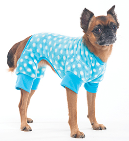 COZY FLEECE SLEEPER DOG PAJAMAS