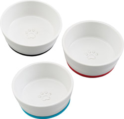 COLORFUL RINGS NON SKID DISH FOR CATS AND DOGS
