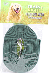 TRAIN RIGHT! COTTON WEB TRAINING LEASH