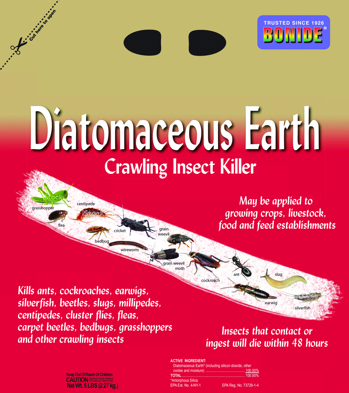 DIATOMACEOUS EARTH CRAWLING INSECT KILLER