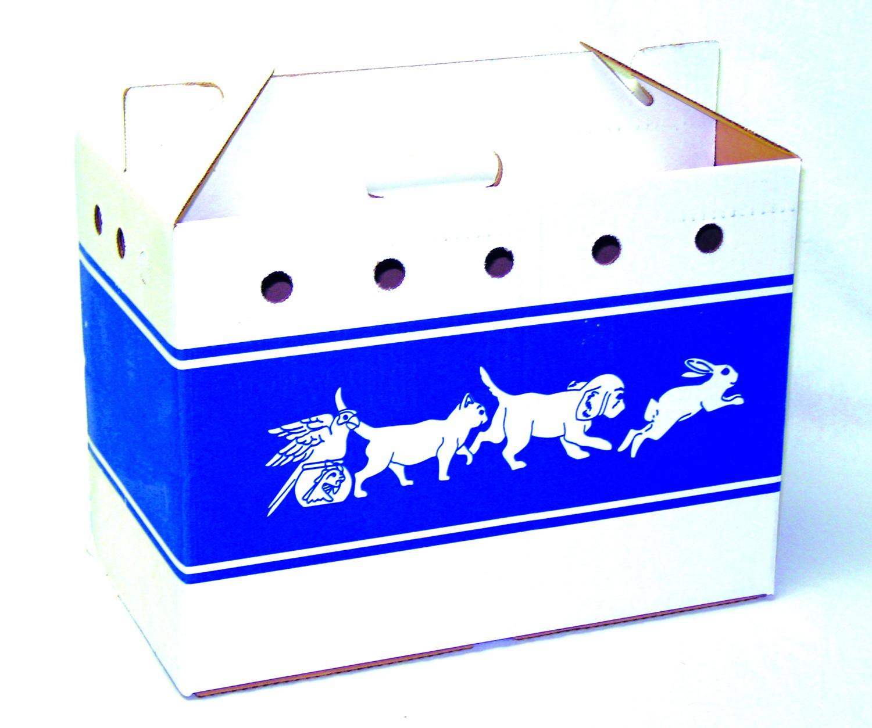 Cardboard Pet Tote Lge