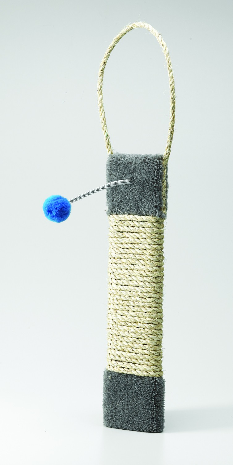 19 In Sisal Hanging Door Scatcher With Toy