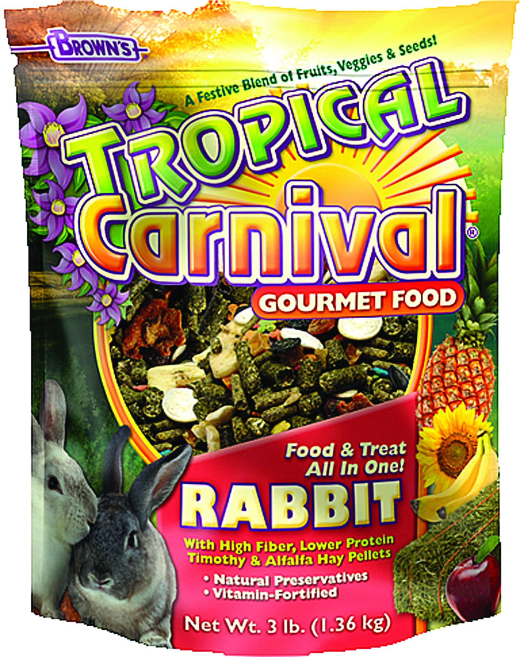 Tropical Carnival Rabbit Food - 3 Lb
