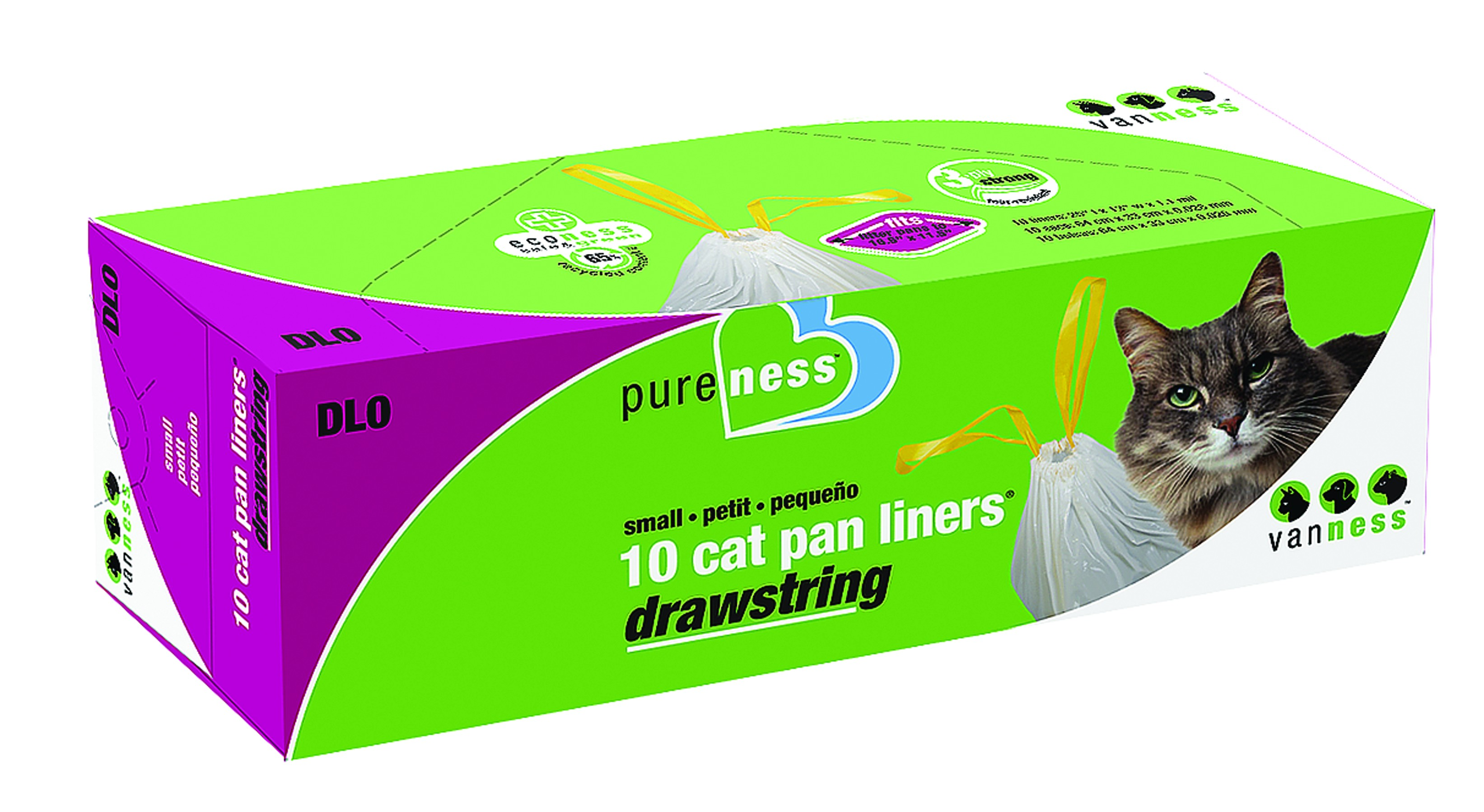 Cat Litter Boxes Drawstring Liner 10 Pack
