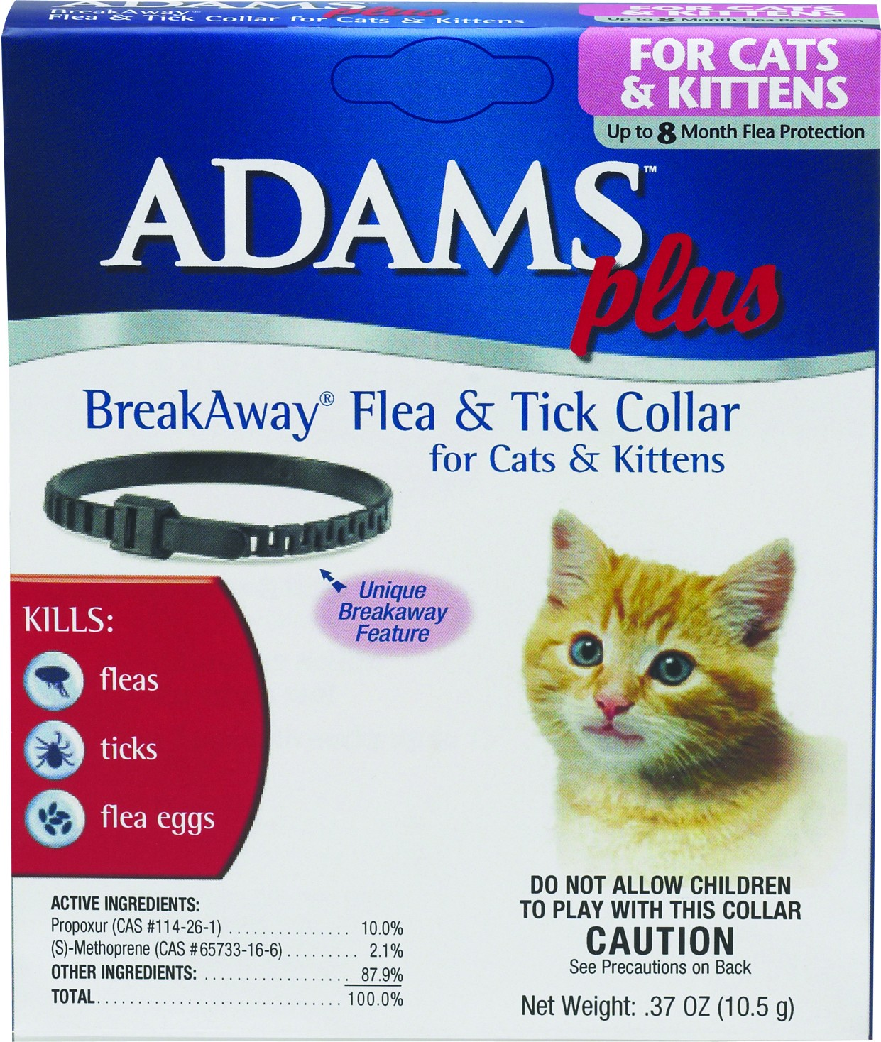 ADAMS PLUS FLEA & TICK COLLAR FOR CAT