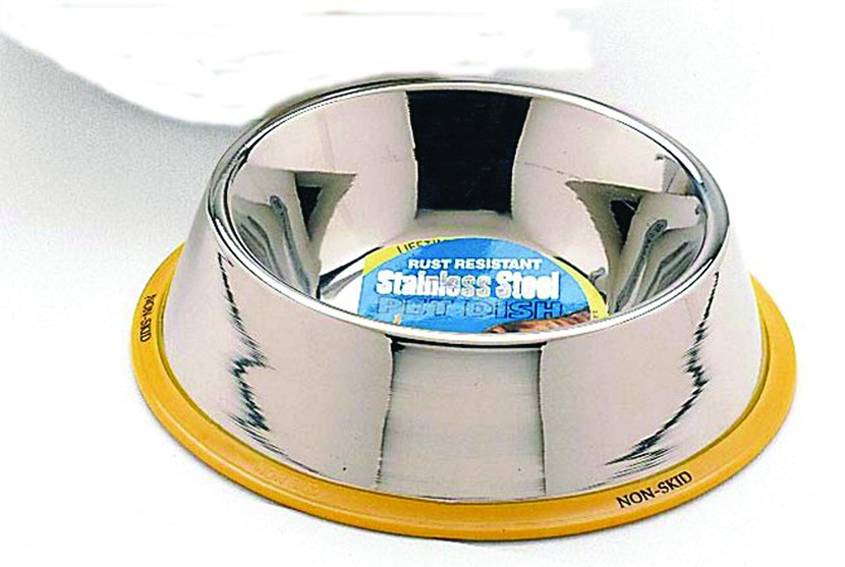 24 Oz No Tip Stainless Steel Mirror Dog Dish