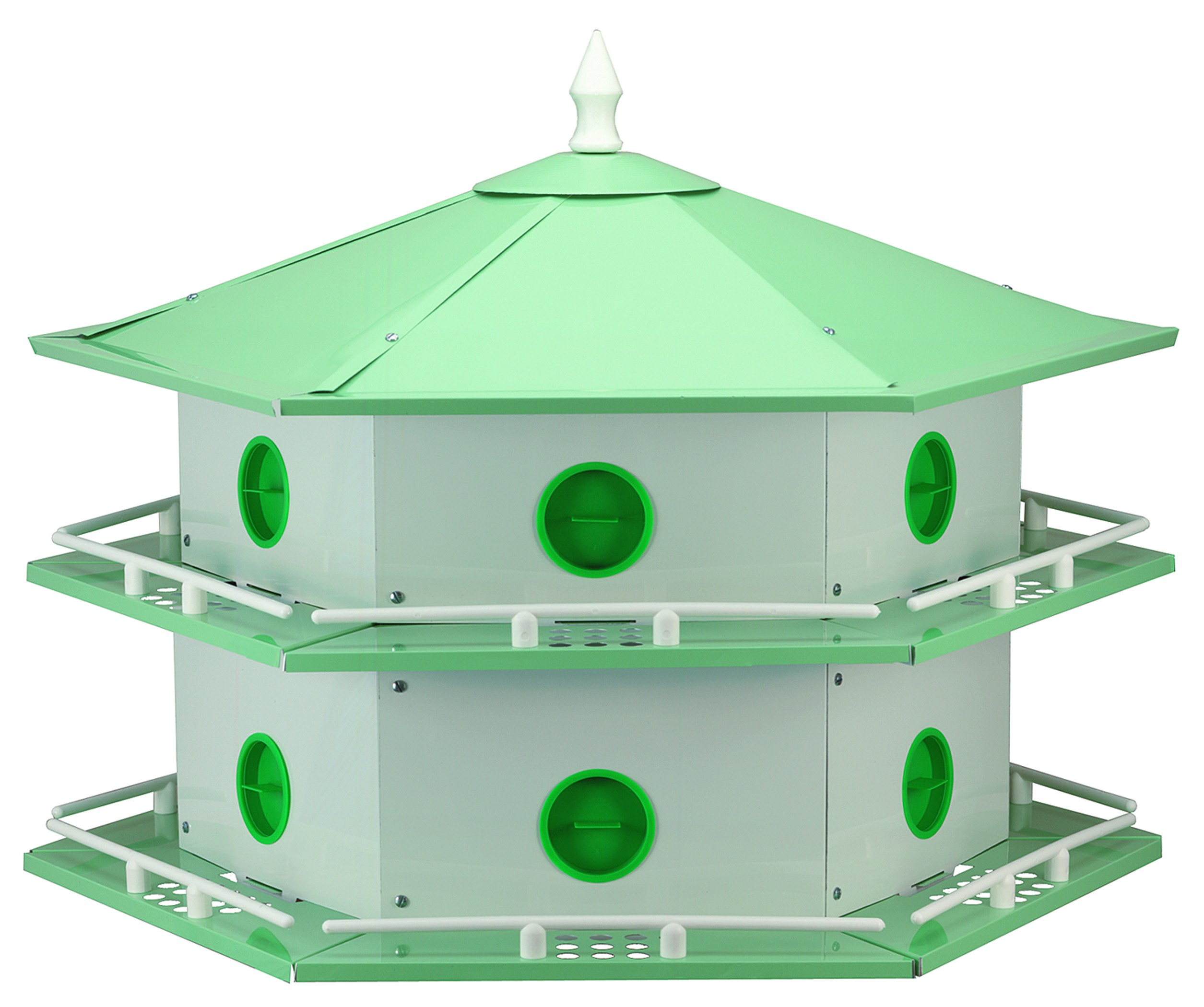 Aluminum 12-Room Deluxe Purple Martin House