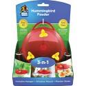 3-N-1 PLASTIC HUMMINGBIRD FEEDER