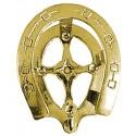 Rack Bridle Brass Horseshoe