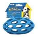 The sphericon 6 in colorful dog toy