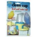 Bird seed cup w/round perch