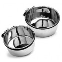20 Oz Stainless Steel Dog Bowl with bolt