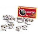 2 Qt Stainless Steel Double Diner Dog Dish